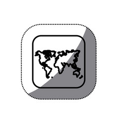 Figure map earth planet icon vector