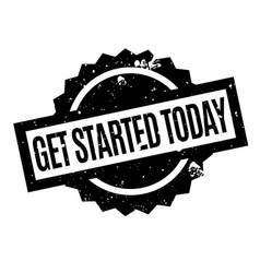 Get started today rubber stamp vector