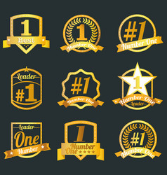 Badges certificates and seal icons number o vector