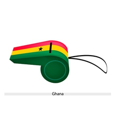 A whistle of the republic of ghana vector