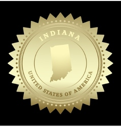 Gold star label Indiana vector image