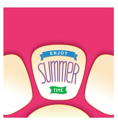 Abstract summer card design vector