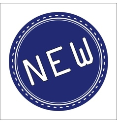 New icon badge label or sticke vector