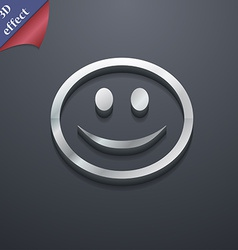Smile happy face icon symbol 3d style trendy vector