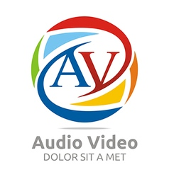 Logo letter av consulting icon business vector