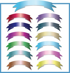 Set of design elements banners ribbons vector