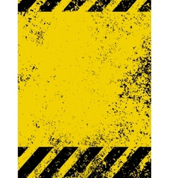 Grungy caution vector