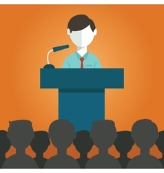 Businessman giving a presentation vector