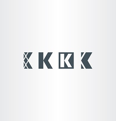 Letter k set logo icon elements vector