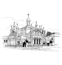 Convent drawing vector