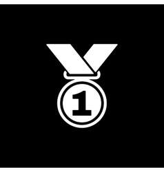 The medal icon prize symbol flat vector