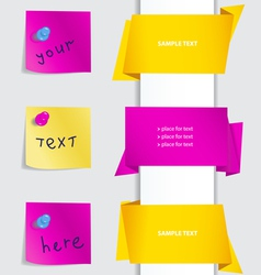 Notes and labels set vector