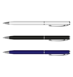 pen white blue black vector image