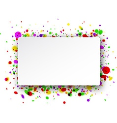 Rectangular background with confetti vector
