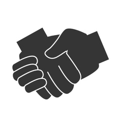 Handshake pictogram symbol icon vector