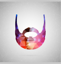 abstract creative concept icon of beard vector image vector image