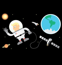 Astronaut and Space vector image