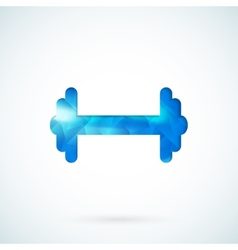 Blue barbell background vector