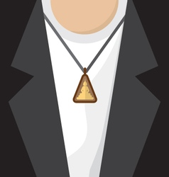 Buddhist amulet necklace vector