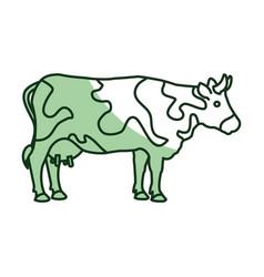 Cow farm animal icon vector