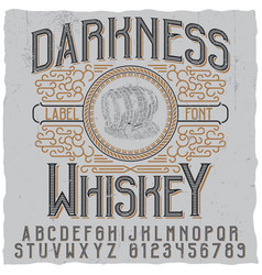 darkness whiskey poster vector image