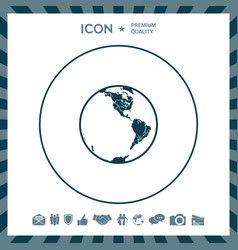 earth icon logo vector image