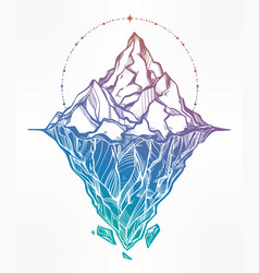 Hand drawn beautiful iceberg vector