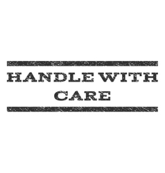 Handle with care watermark stamp vector