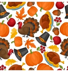 Happy thanksgiving day seamless pattern with vector