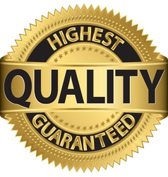 Highest quality guaranteed gold label vector