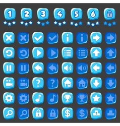Ice game and levels buttons vector