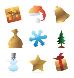 Icons for Christmas vector image