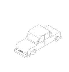 Isometric black and white car vector image vector image