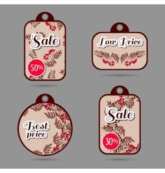 Labels Red Berries vector image