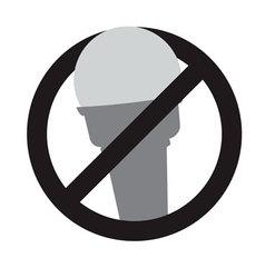 No ice-cream sign vector