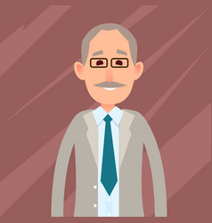 old male character with mustache vector image