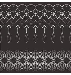 Set of filigree patterned brushes vector