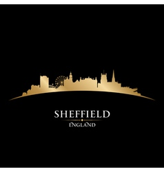 Sheffield England city skyline silhouette vector image
