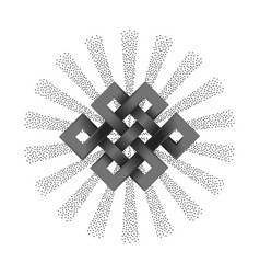 silver endless knot vector image