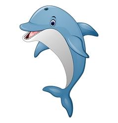 Standing Dolphin cartoon vector image