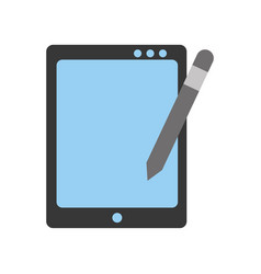 Tablet drawing work vector