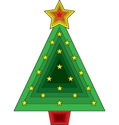triangle christmas tree vector image vector image