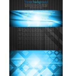 Vibrant tech business design vector image