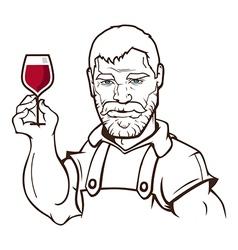 Winemaker vector