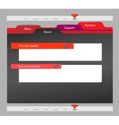 Web site template on black vector