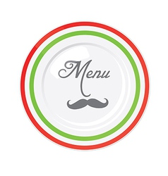 Funny italian restaurant menu design template vector