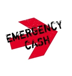 Emergency cash rubber stamp vector