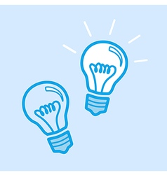 Lamp bulb idea icon simple blue vector
