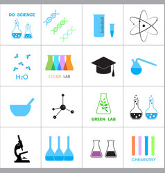 Science and chemistry related icons vector