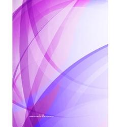 Purple wavy lines vector image